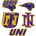 University of Northern Iowa Panthers logo machine embroidery design for instant download